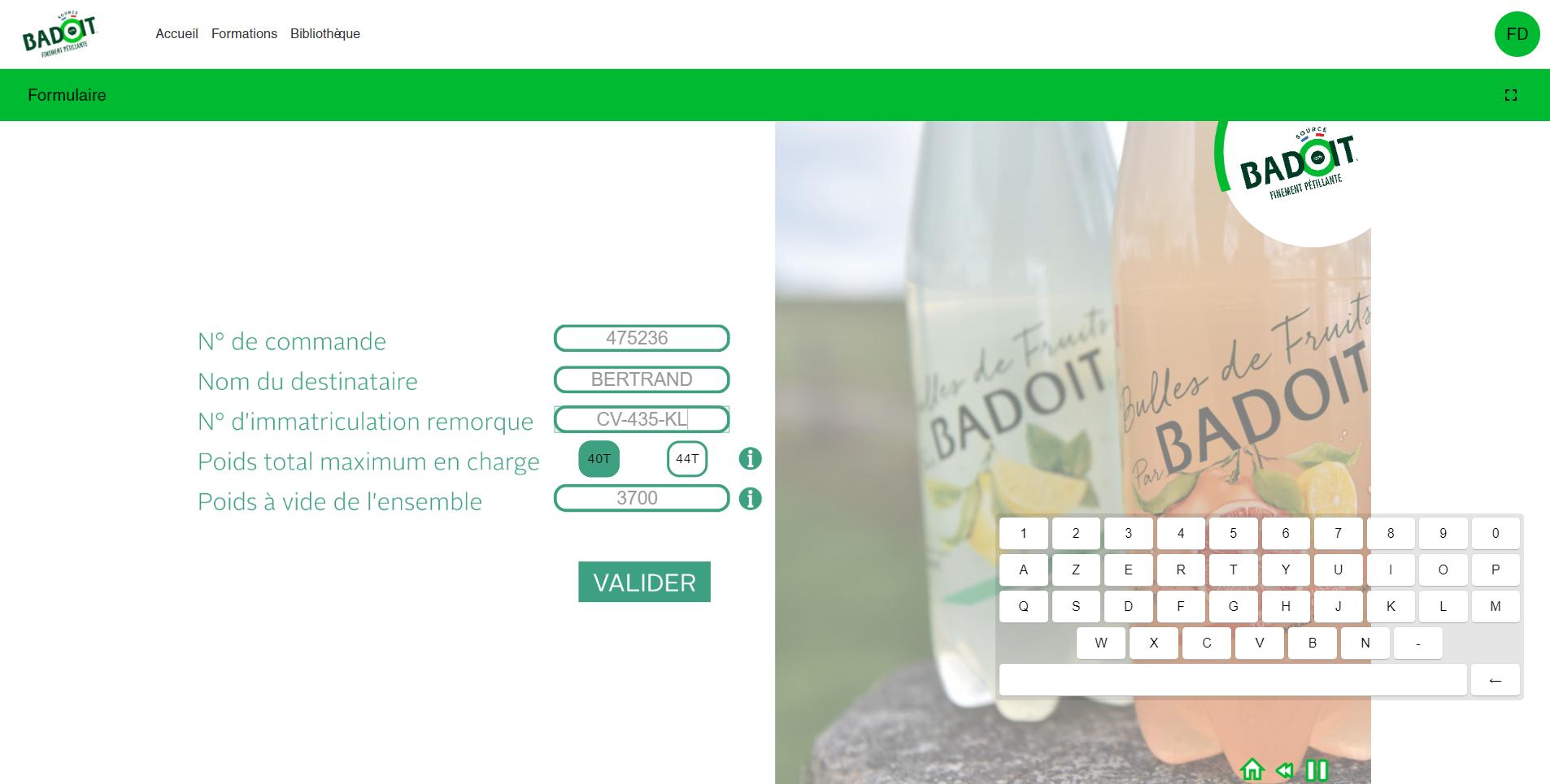 Cas client Badoit : protocole transporteur l Didactum